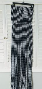 🇺🇸 Navy and white striped Maxi Dress